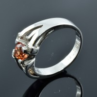 Bague DAGHER Saphir Mandarin Diamant