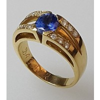 Bague DAGHER Or Jaune Saphir Diamant