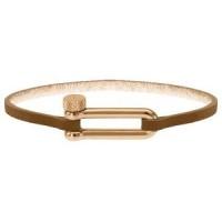 ROCHET Bracelet Acier/Cuir BOUDEUSE