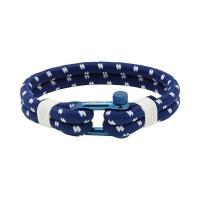 ROCHET bracelet en coton naturel et acier