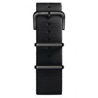 Bracelet Nato Noir Mat Oxygen