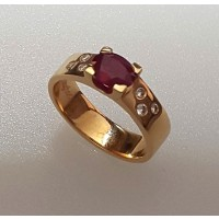 Bague DAGHER Diamant Or Rouge