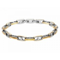 Bracelet GALION Acier Bicolore PVD Jaune
