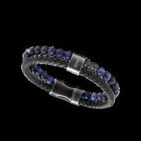 Bracelet Rochet Karma marine et lapis lazuli