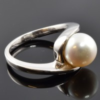 Bague DAGHER Perle Blanche Or
