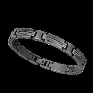 Bracelet Rochet MARINA acier/câble gris